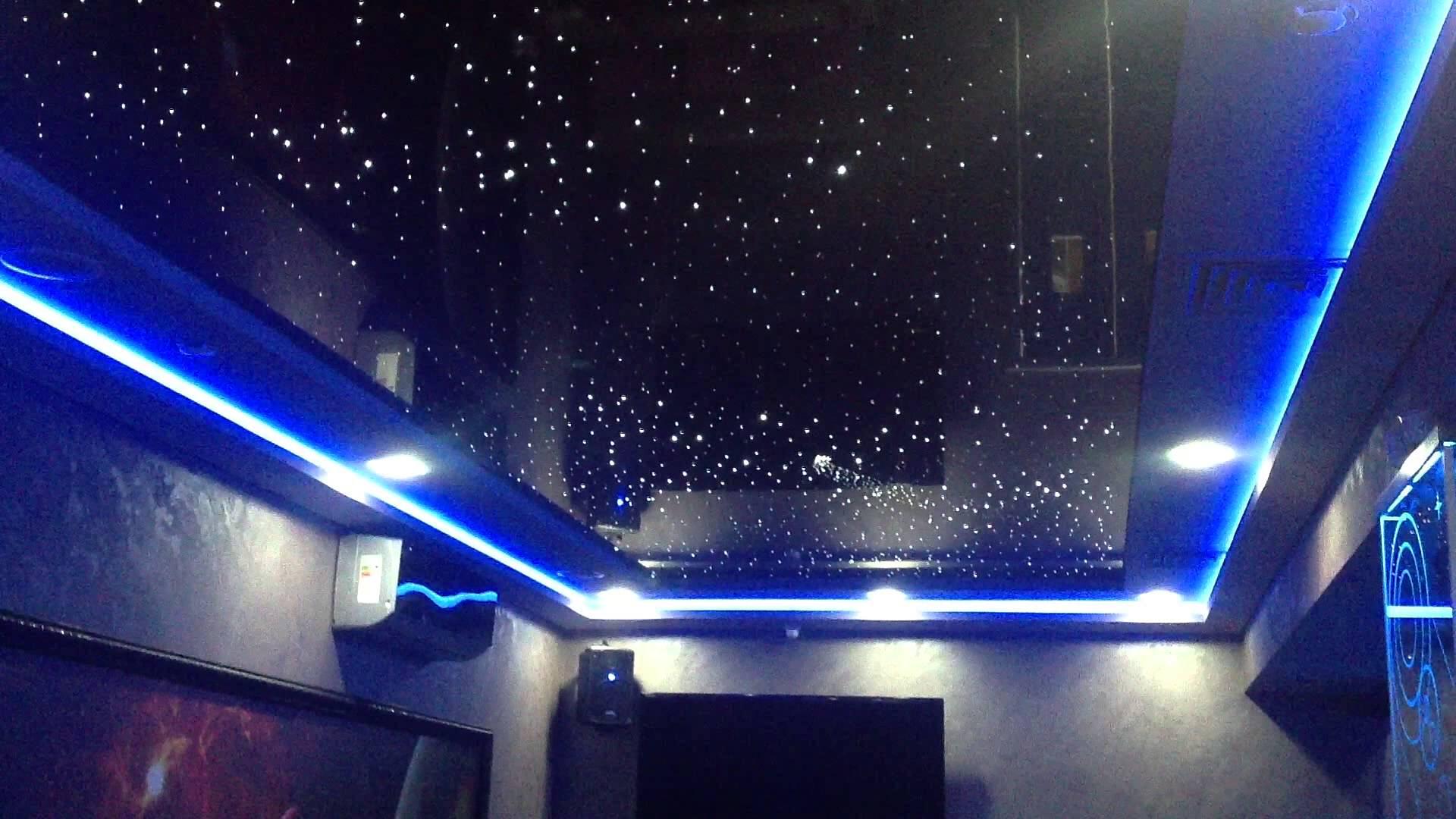 Как сделать натяжной потолок звездное небо фото 387